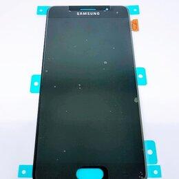 Дисплеи и тачскрины - Дисплей Samsung A510 Galaxy A5 2016 модуль чёрный GH97-18250B Оригинал, 0