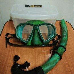 Маски и трубки - Набор. Маска и трубка Aquadiscovery Calcan Green. , 0