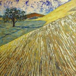 Картины, постеры, гобелены, панно - Серия Пустыня: Дерево. Картина акрил, поталь, 0