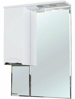 Зеркала - Зеркало-шкаф Bellezza Альфа 65 L белый, 0