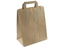 Упаковочные материалы - Пакет «Крафт» плоские ручки 320х200х370 мм 25…, 0