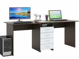 Столы и столики - Стол письменный Тандем-2 для двоих (0120), 0