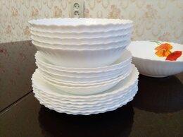 Тарелки - Набор белых тарелок 19 предметов, 0