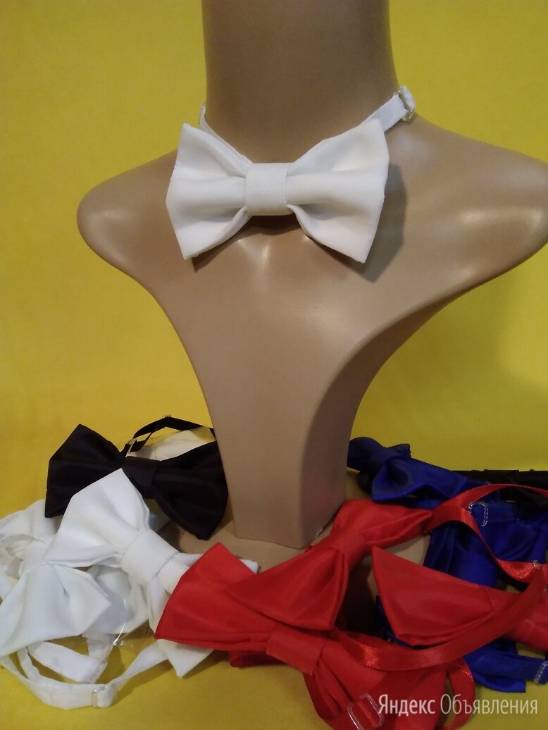 Белая бабочка галстук  по цене 190₽ - Галстуки и бабочки, фото 0