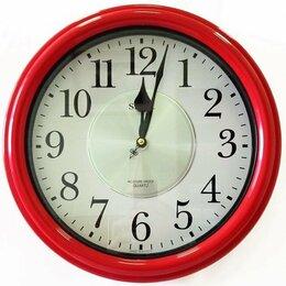 Часы настенные - Настенные часы Sinix 4065 красные (влагостойкие), 0