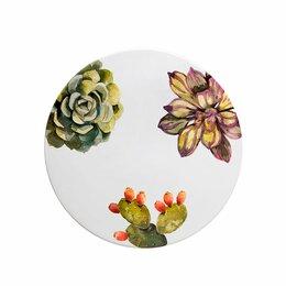 Блюда и салатники - Тортовница керамическая белая Cactus, 0