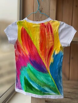 Футболки и майки - Детская футболка с ручной росписью. Эксклюзив.…, 0