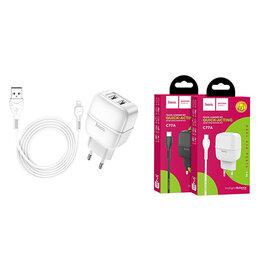 Зарядные устройства и адаптеры - Зарядное устройство Hoco С77A 2.4A для Iphone c…, 0
