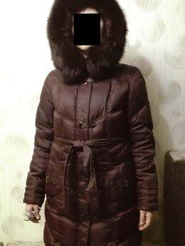 Пуховики - Пуховик женский, зимний, бордово-коричневый …, 0