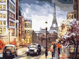 Картины, постеры, гобелены, панно - Картина по номерам Парижская  вечерняя улица 40*50, 0