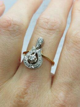 Кольца и перстни - Золотое кольцо с бриллиантами 0,26 ct, 0