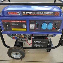Электрогенераторы и станции - 📣🔥Бензиновый генератор спец SB-6500E2-N, 0