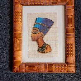 Картины, постеры, гобелены, панно - Египетский папирус Нефертити., 0