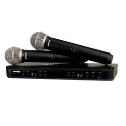 Радиосистемы и радиомикрофоны - SHURE BLX288E/PG58 M17 двухканальная вокальная…, 0