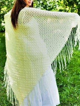 Шарфы и платки - Вязаная шаль платок, 0