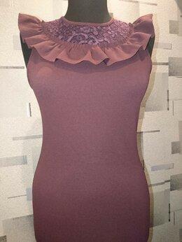 Платья - Платье Zara с объёмным воротником, 0