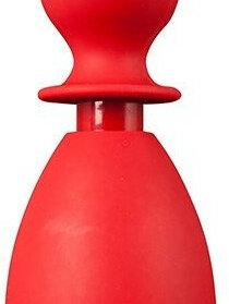 Средства для интимной гигиены - Красный анальный душ с насадкой-пробкой, 0