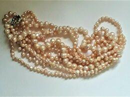 Колье - Многорядное ожерелье из розового жемчуга., 0