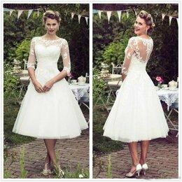 Платья - Новое короткое свадебное платье стиль 50-х, 0