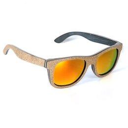Очки и аксессуары - Солнцезащитные очки деревянные, арт. AG020e Orange, 0