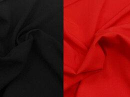 Рукоделие, поделки и товары для них - Ткань штапель вискоза (черный и красный цвет), 0