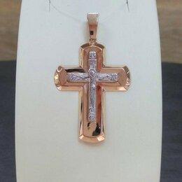 Кулоны и подвески - Золотой крестик • Без камней, проба 585°, Крест…, 0
