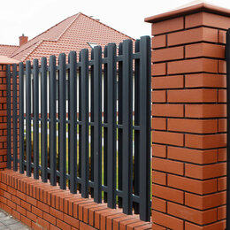 Заборчики, сетки и бордюрные ленты - Штакетник металлический GL 0,5 RAL 8012, 0