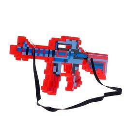 Игрушечное оружие и бластеры - Автомат пиксельный с лазером, 0