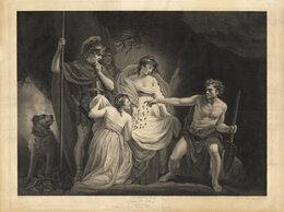 Гравюры, литографии, карты - 1799 год. Тимон, нашедший клад золота в пещере,…, 0