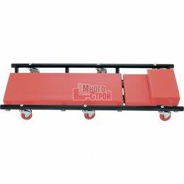 Лежаки, домики, спальные места - Лежак ремонтный на 6-ти колесах, 1030 х 440 х 120 мм, поднимающийся подголовник/, 0