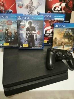 Игровые приставки -  Sony PlayStation 4 Slim 1 ТБ, черный, 0