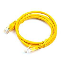 Кабели и разъемы - Патч-корд, UTP RJ-45 кат.5E, 1м, желтый локальный кабель, 0