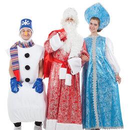Карнавальные и театральные костюмы - Костюм Дед Мороз Зимние узоры парчовый, 0
