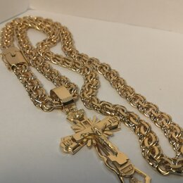 Цепи - Цепочка мужская, золото , 0