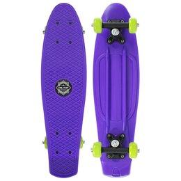 Скейтборды и лонгборды - Пенни борд 56 х 15 см, колеса PVC 50 мм, пластиковая рама, цвет фиолетовый, 0