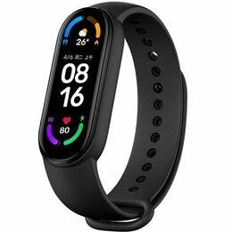 Умные часы и браслеты - Фитнес-браслет XIAOMI Mi Band 6 чёрный, 0
