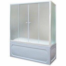 Шторы и карнизы - Шторка для ванны 1Marka 150х140 МW каркас белый, 0