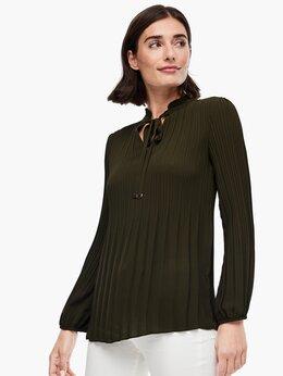 Блузки и кофточки - Блузка гофре S.Oliver Германия зелёная новая, 0