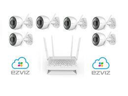 Камеры видеонаблюдения - Комплект на 6камер ezviz С3N +Vault Plus, 0