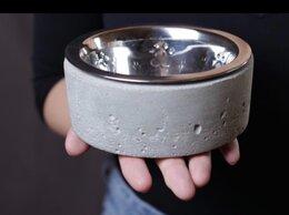 Миски, кормушки и поилки - Подставка из бетона и миска из нержавеющей стали…, 0