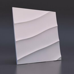 Стеновые панели - Зд панель Волна диагональная крупная, 0