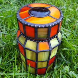 Ёмкости для хранения - Винтажная баночка для кофе или чая в тёплых тонах., 0