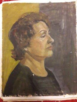 Рисование - Учебные портреты маслом 40-50 см холст, 0