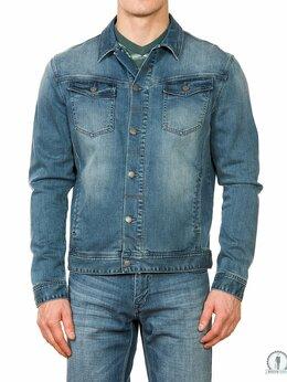 Куртки - Купить джинсовую куртку мужскую  W9297BLUE, 0