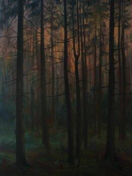 """Картины, постеры, гобелены, панно - Картина маслом """"Песня леса"""" г. Пушкино, 0"""