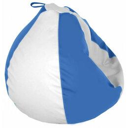 Пуфики - Пуфик-груша мягкий голубая Ocean, 0