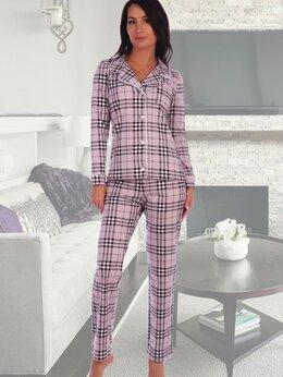 Футболки и топы - Пижама женская рубашка и длинные брюки в клетку 26, 0