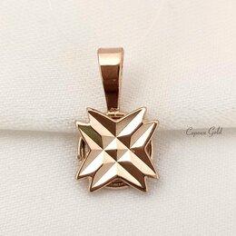 Кулоны и подвески - Золотая подвеска алмазная грань 583 проба советская СССР, 0