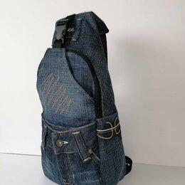Рюкзаки - Рюкзак джинсовый однолямочный , 0