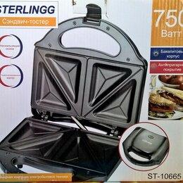Сэндвичницы и приборы для выпечки - Сендвич - тостер ST-10665 Sterlingg. НОВЫЙ., 0